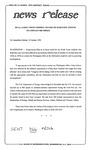 News Release - 1994-01-10 by E. De la Garza