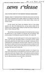News Release - 1993-08-30 by E. De la Garza