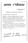 News Release - 1994-09-27 by E. De la Garza