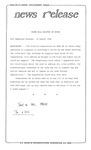 News Release - 1994-08-12 by E. De la Garza
