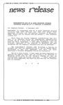 News Release - 1995-09-12 by E. De la Garza