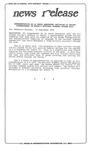 News Release - 1995-09-13 by E. De la Garza
