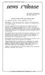News Release - 1995-09-15 by E. De la Garza
