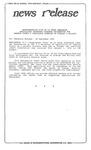 News Release - 1995-09-20c by E. De la Garza