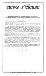 News Release - 1995-11-09 by E. De la Garza