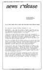 News Release - 1996-11-19 by E. De la Garza