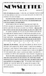 Newsletter - 1985-08-29