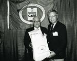 Photograph of Kika de la Garza with CEO and president of National Grocers Association, Tom Zaucha