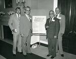 Photograph of Kika de la Garza with Julius Collins, and Guy Pete at shrimper's meeting