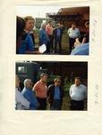 Photographs of Kika de la Garza visiting Russian farmers