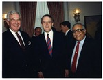 Photograph of Kika de la Garza with Speaker of the United States House of Representatives, Tom Foley, and Canadian Prime Minister, Brian Mulroney