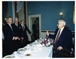 Photograph of Kika de la Garza with Canadian Prime Minister, Brian Mulroney and Speaker of the United States House of Representatives, Tom Foley