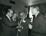 Photograph of Kika de la Garza with Hugo B. Margáin and Carlos Hank González
