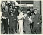 Photograph of Kika de la Garza and four other United States Congressmen in Vietnam
