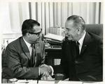 Photograph of Kika de la Garza with President Lyndon B. Johnson