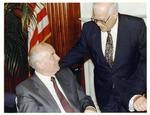 Photograph of Kika de la Garza with Russian President, Mikhail Gorbachev