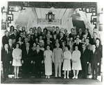 Photograph of various dignitaries with Generalissimo Chiang Kai-shek and Madame Soong Mei-ling
