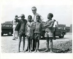 Photograph of Kika de la Garza with children