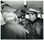 Photograph of Kika de la Garza aboard a United States Navy ship