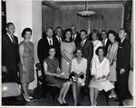 Photograph of reception for Waggoner Carr before graduation
