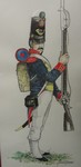 Mexican Army First Infantry Regiment soldier drawing