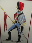 Mexican Army Hussar drawing