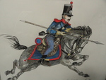 Mexican Army Guanajuato Cavalry drawing