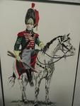 Mexican Army Caballeros Cazadores drawing