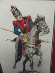 Mexican Army Fifth Regular Cavalry on horse drawing