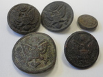 Mexican Army eagle buttons