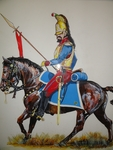 Mexican Army Tulancing Cuirassiers Cavalry drawing