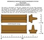 Missouri Pacific Brownsville Depot Plans - Bench detail
