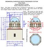 Missouri Pacific Brownsville Depot Plans - Dome detail