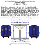 Missouri Pacific Brownsville Depot Plans - Passenger car profile