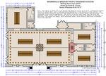 Missouri Pacific Brownsville Depot Plans - Waiting room floor detail
