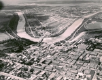 Brownsville downtown aerial