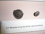 U.S. Army Musician Corp. hat device and coat button