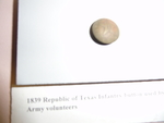 Republic of Texas Army infantry button