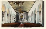 Interior of Cathedral by Curt Teich & Co. and Robert Runyon