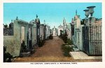 Cemetery, Campo Santo by Curt Teich & Co. and Robert Runyon