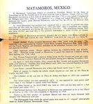 History of Matamoros by Curt Teich & Co. and Robert Runyon
